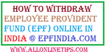how to withdraw pf amount online india f